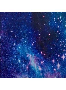 3D Gorgeous Dark Blue Galaxy Printed Polyester Blackout Custom 2 Panels Curtain