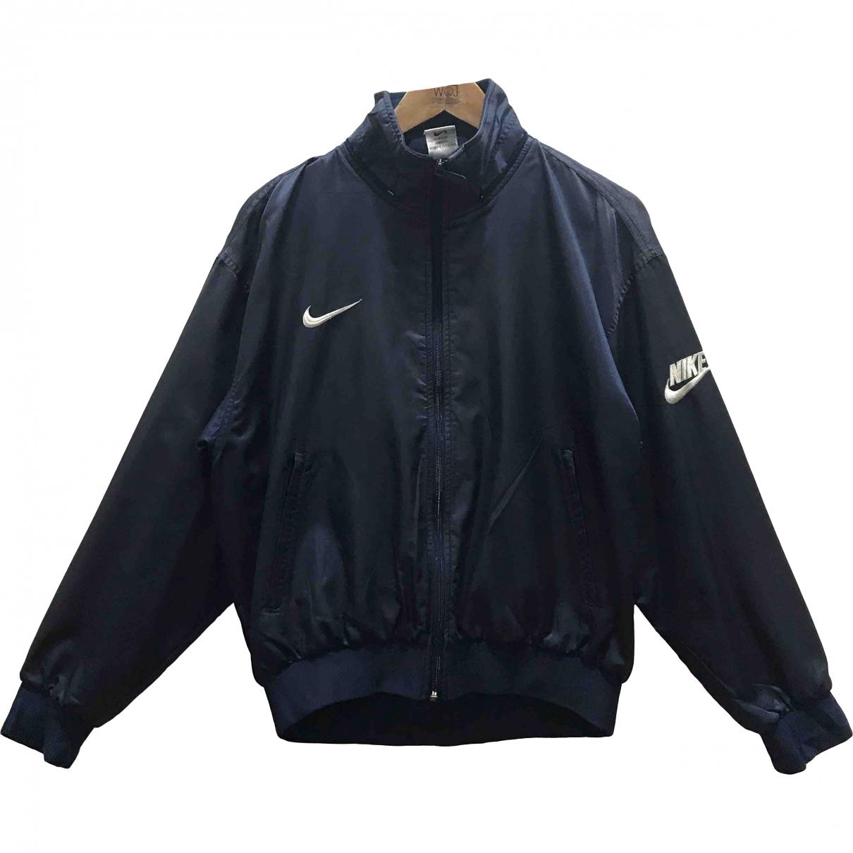 Nike \N Jacke in  Blau Baumwolle