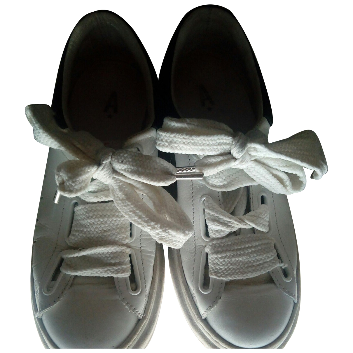 Aniye By \N White Leather Trainers for Women 36 EU