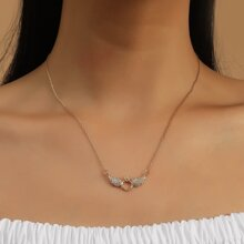 Metal Wing Charm Necklace
