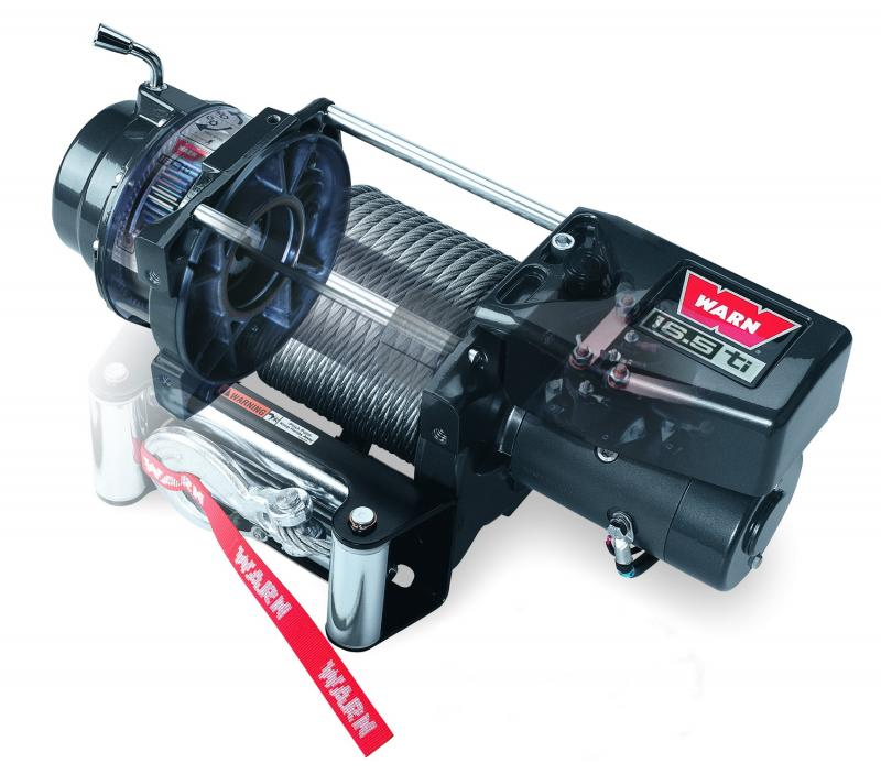 Warn 12 Volt 16500 LB Pull Line Cap 90 Ft Wire Rope Roller Fairlead Wired Remote