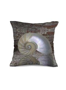 Creative Fancy Snail Shell 3D Print Throw Pillow Case