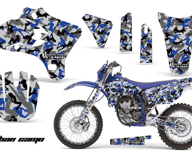 AMR Racing Graphics MX-NP-YAM-YZ250F-YZ450F-05-06-UC U Kit Decal Wrap + # Plates For Yamaha YZ250F YZ450F 2005-2006 URBAN CAMO BLUE