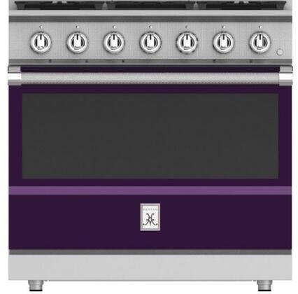 KRG365-LP-PP 36 Lush Purple Liquid Propane Range with 5 Sealed Burners  5.8 cu. ft. Oven Capacity  Cast Iron Grates  Extra Wide Glass Window  3
