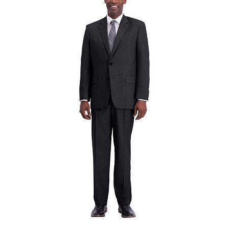 J.M. Haggar Texture Weave Classic Fit Suit Separate Jacket, 42 Regular, Black