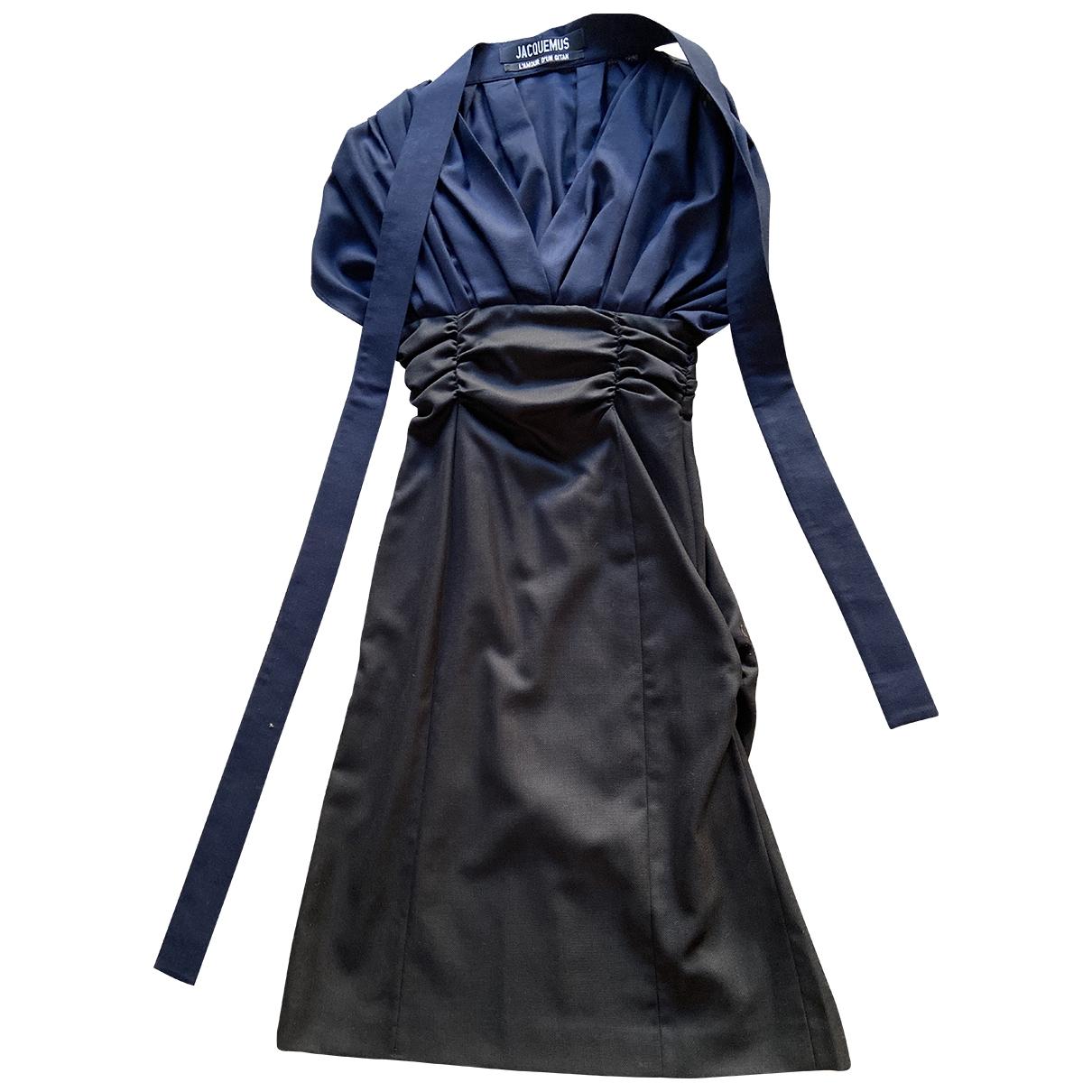Jacquemus LAmour dun Gitan Navy Wool dress for Women 36 FR