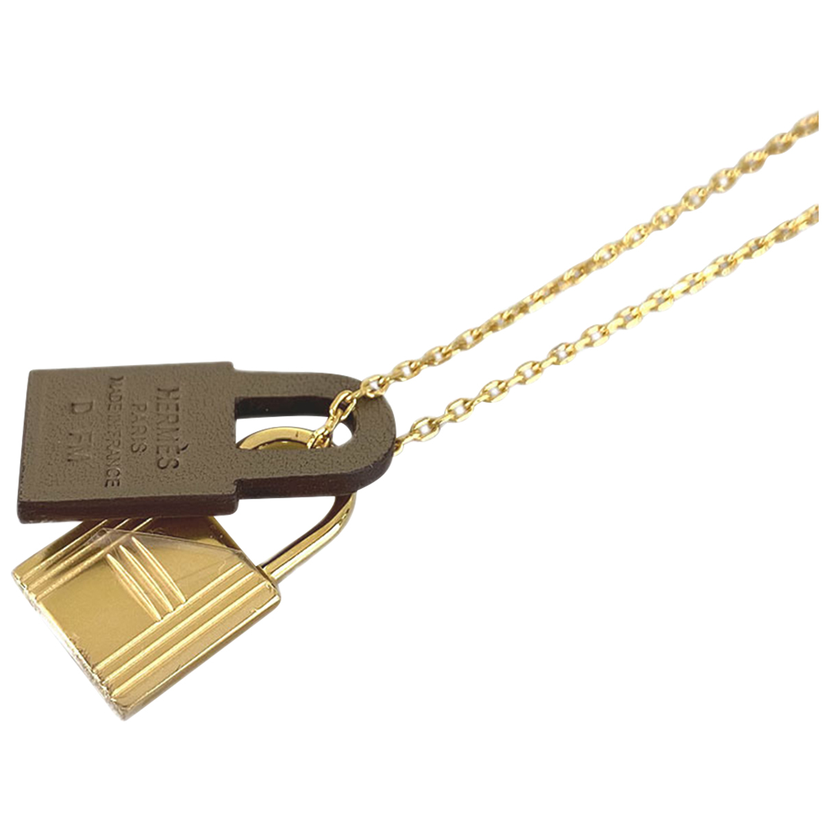 Hermes - Collier   pour femme en metal - dore