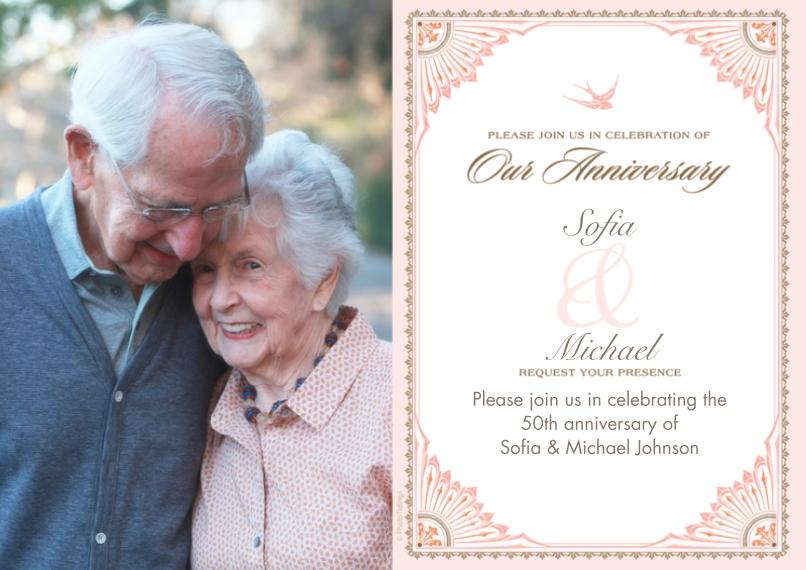 Anniversary 5x7 Cards, Premium Cardstock 120lb, Card & Stationery -Anniversary Celebration