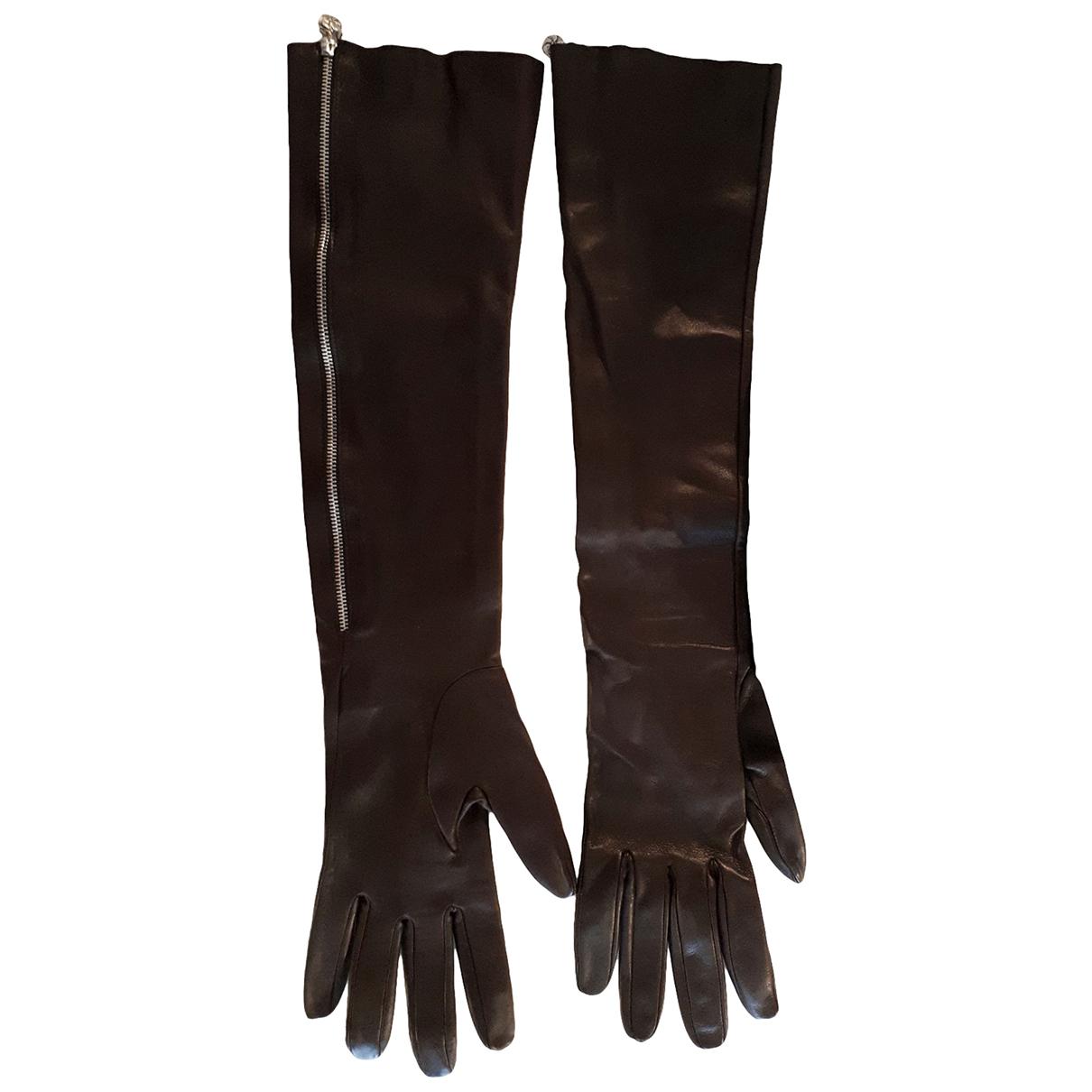 Chanel \N Handschuhe in  Braun Leder