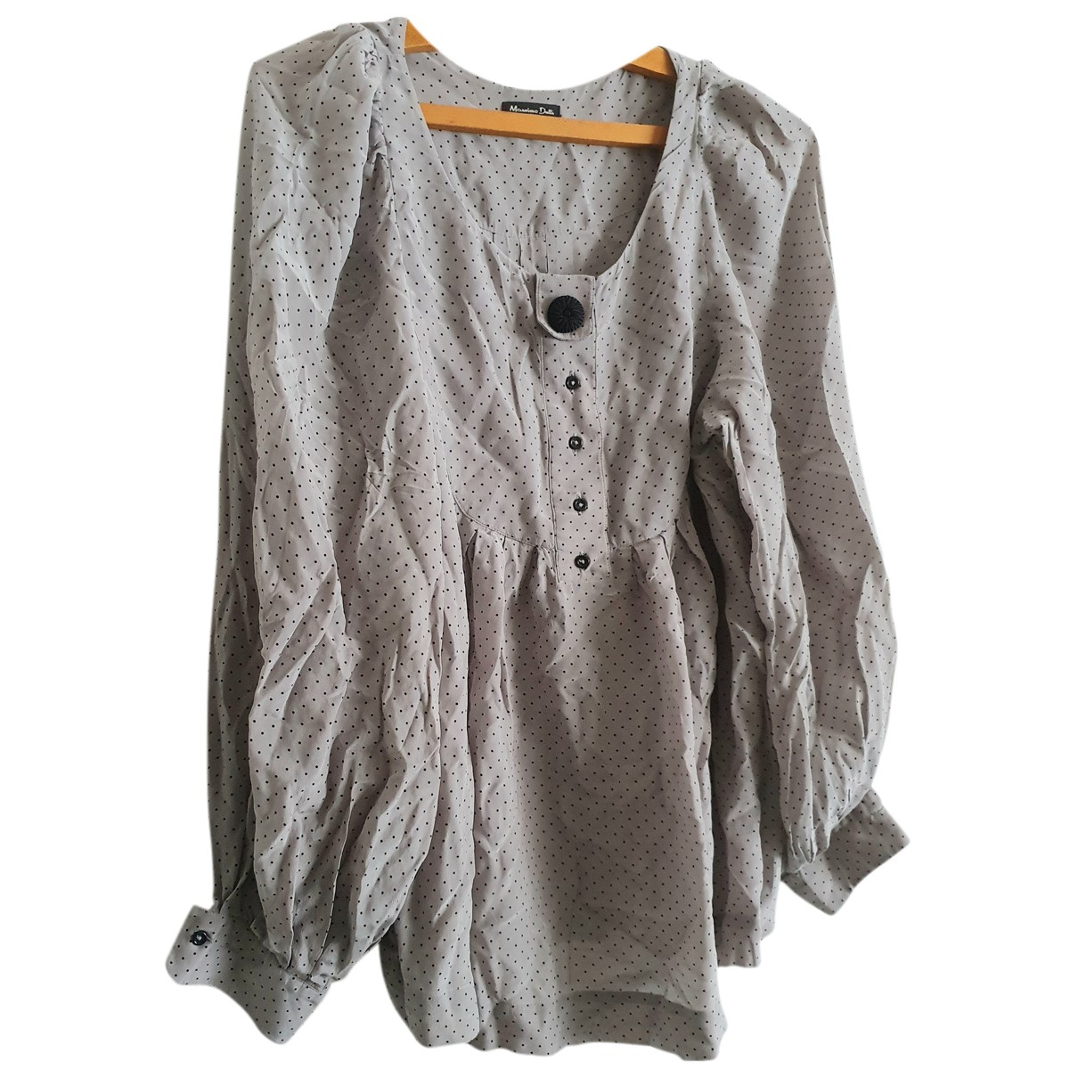Massimo Dutti - Top   pour femme en soie - gris