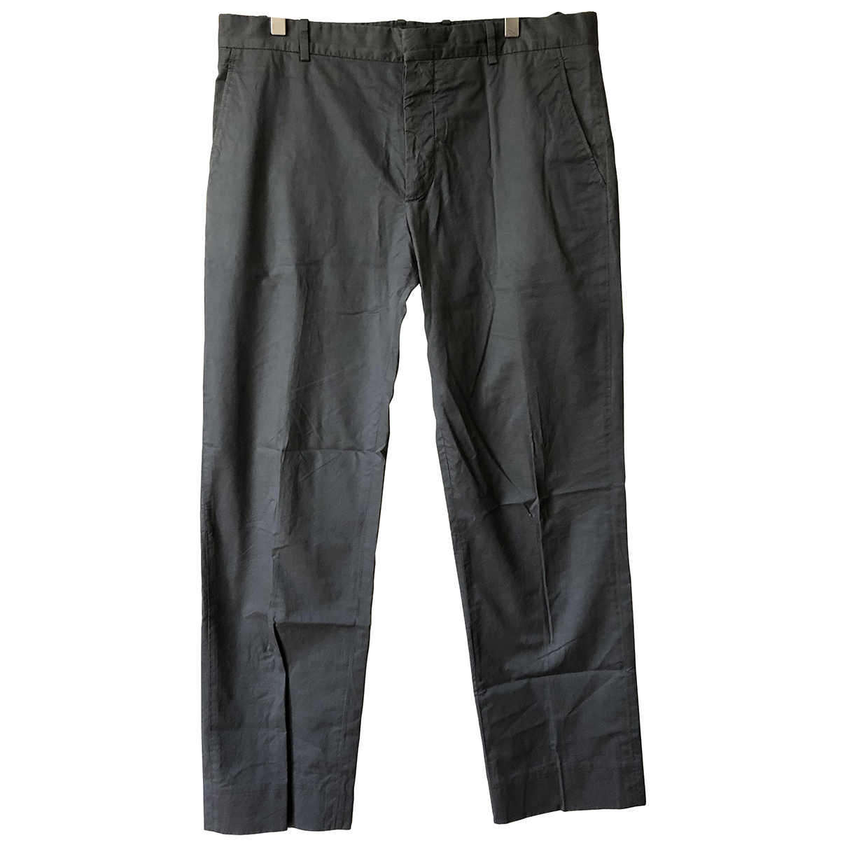 Marni N Anthracite Cotton Trousers for Men 52 IT