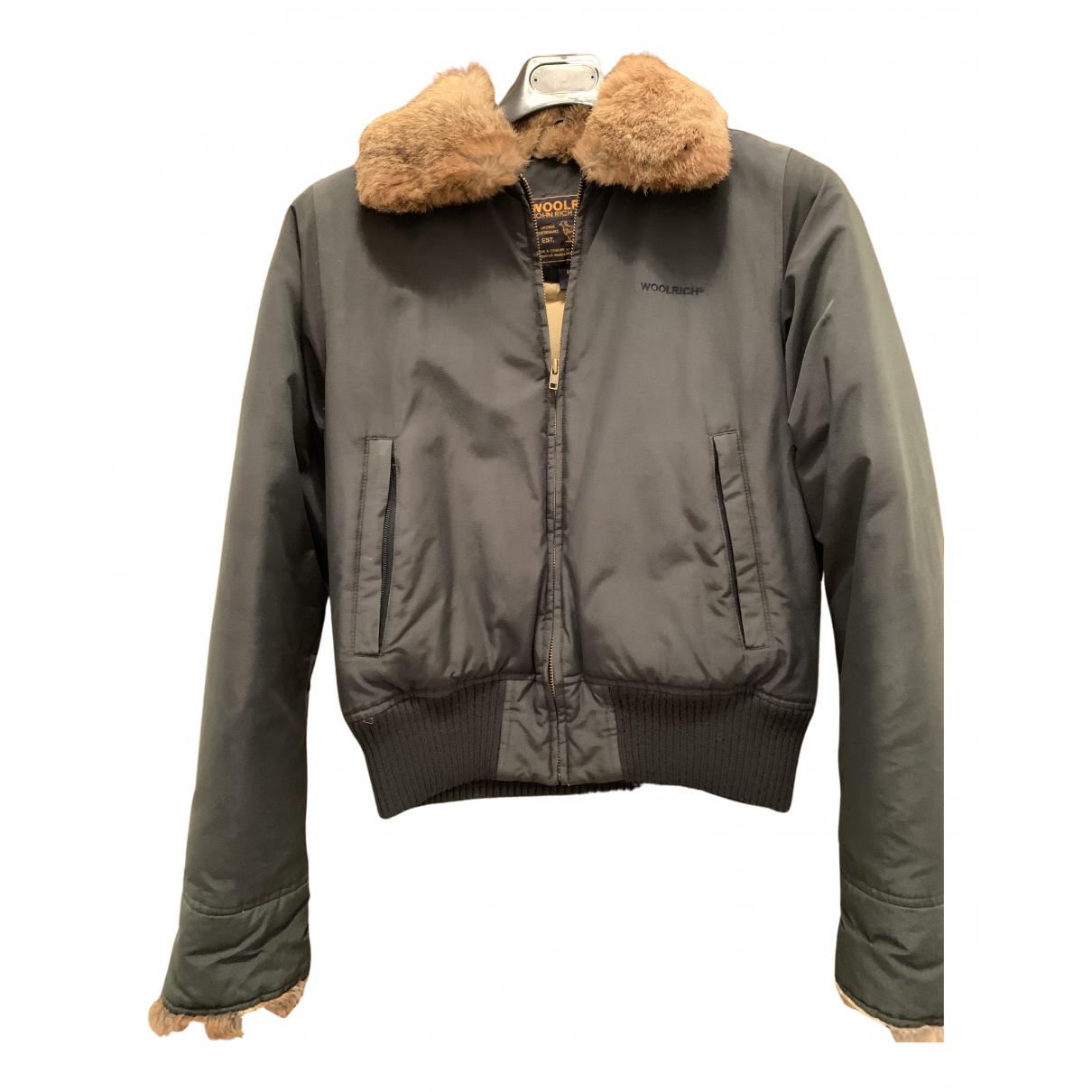 Woolrich N Green Rabbit coat for Women M International