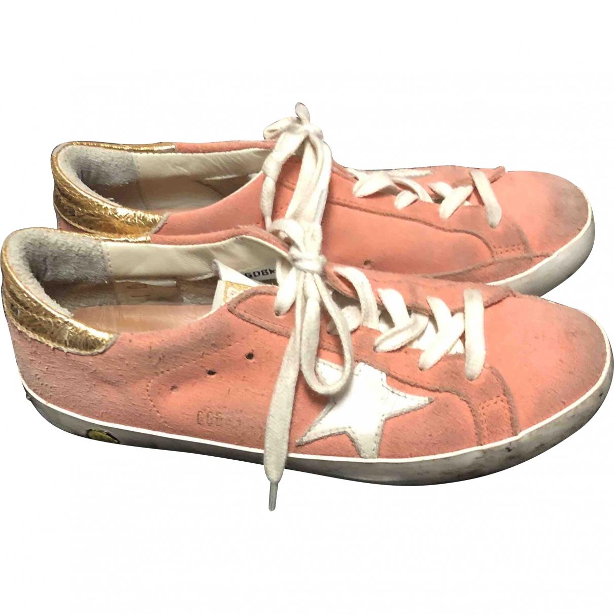Golden Goose \N Sneakers in  Rosa Veloursleder
