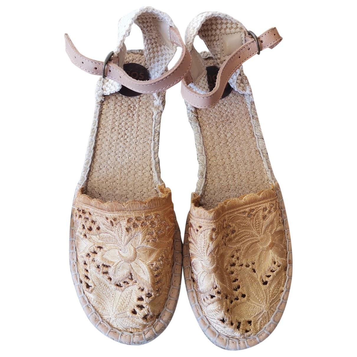 Gioseppo \N Sandalen in  Beige Leinen