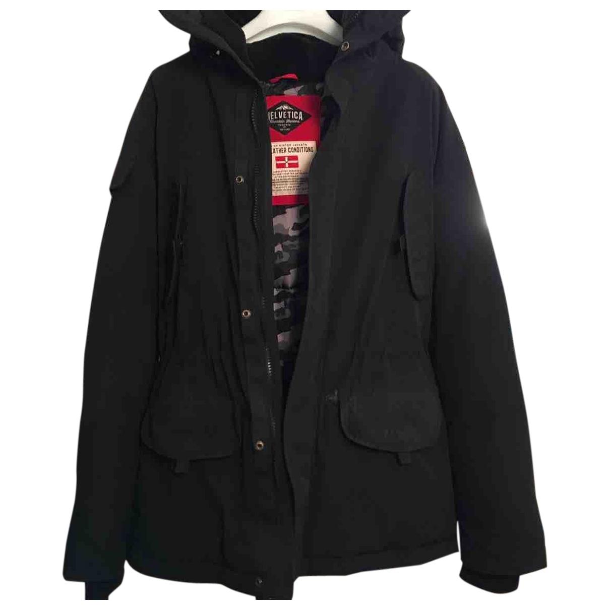 Helvetica - Manteau   pour homme en toile - marine