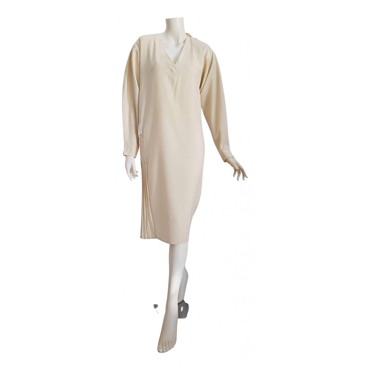 Gianfranco Ferre \N Kleid in  Beige Wolle
