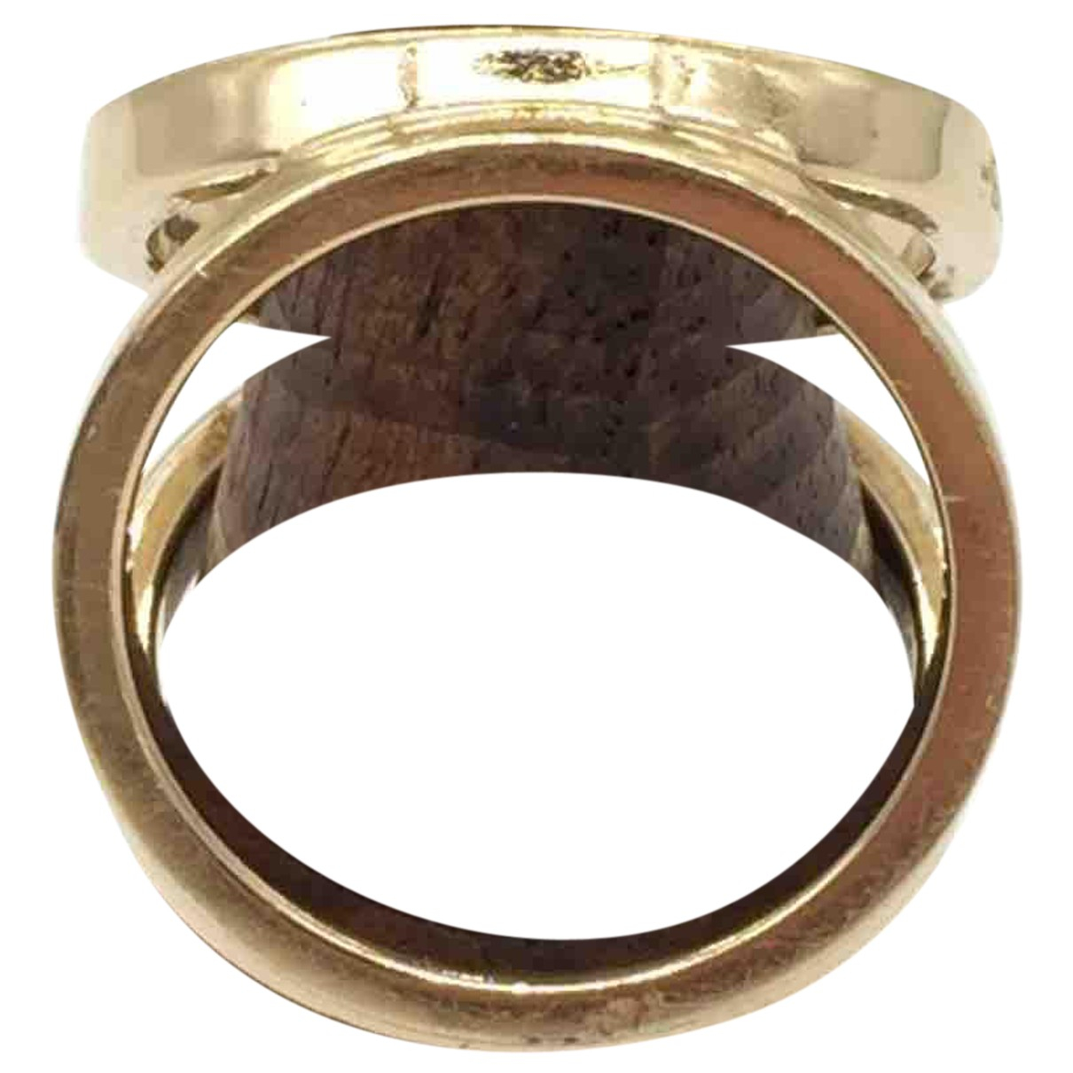 Hermès N Gold Metal ring for Women 56 MM