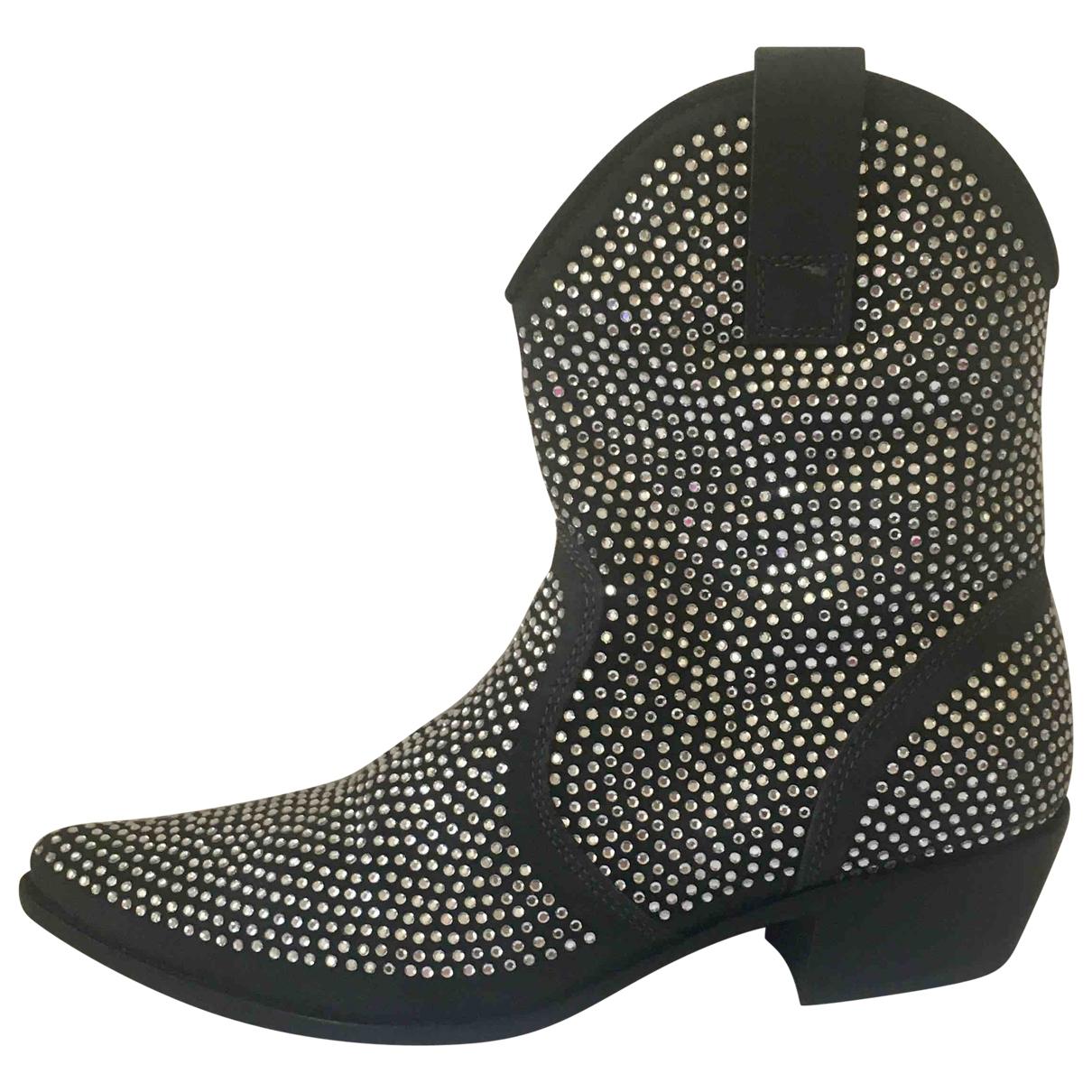 - Boots   pour femme en a paillettes - gris