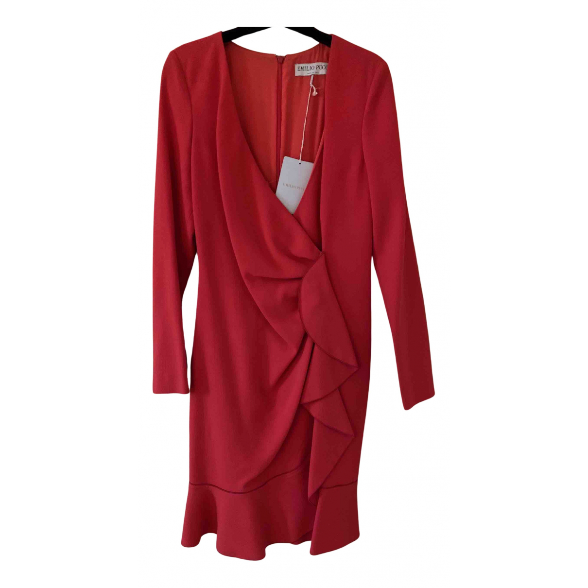 Emilio Pucci N Red Wool dress for Women 40 IT