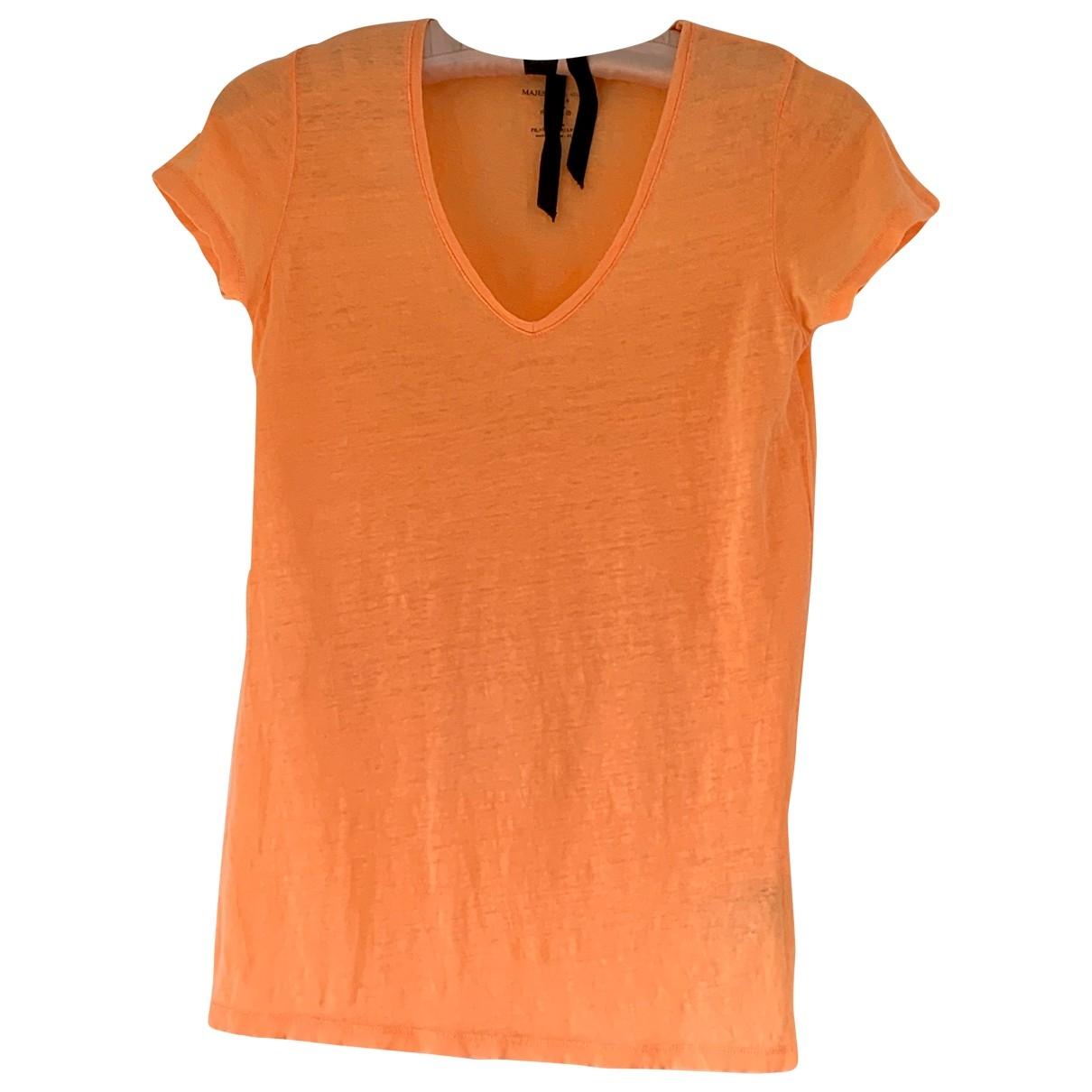 Majestic Filatures - Top   pour femme en lin - orange