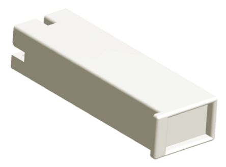 TE Connectivity Positive Lock .187 Mk II Series, 1 Way Nylon 66 Crimp Terminal Housing, 6.35mm Tab Size, Natural (50)