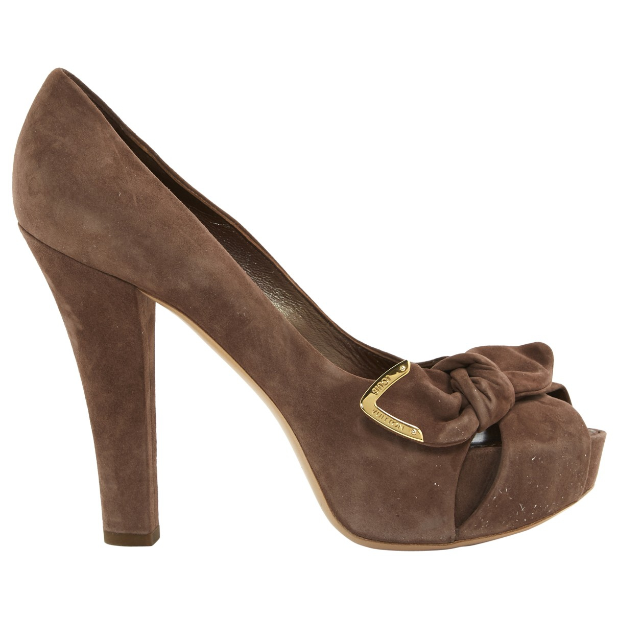 Louis Vuitton \N Brown Suede Heels for Women 37 EU
