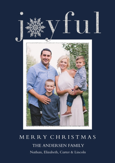 Holiday Photo Cards Flat Matte Photo Paper Cards with Envelopes, 5x7, Card & Stationery -Joyful Wishes