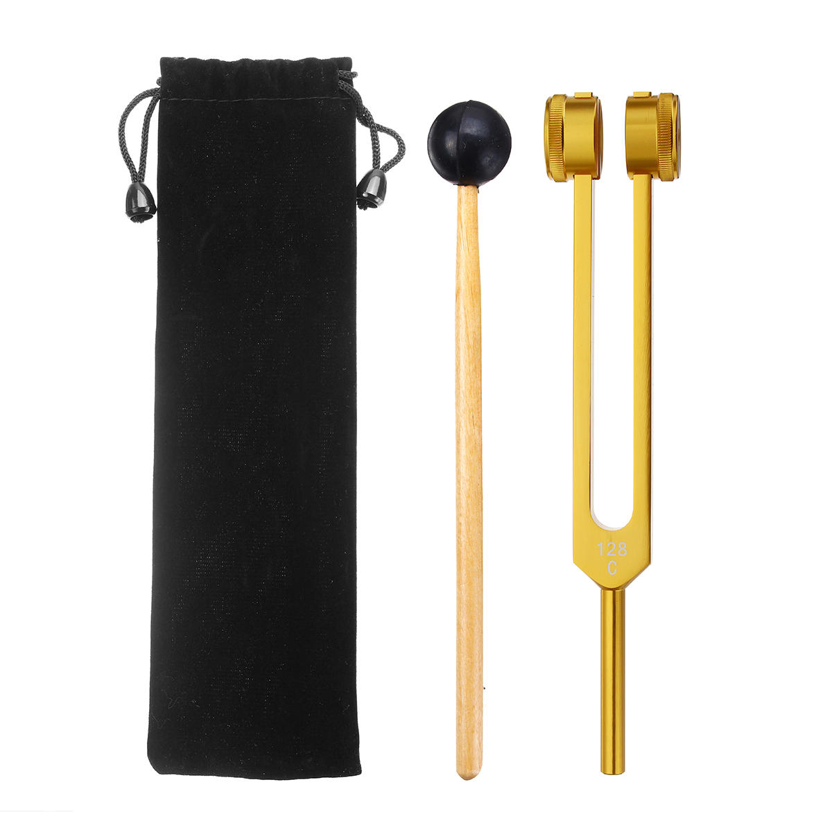 128HZ Aluminum Medical Tuning Fork With Mallet