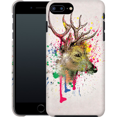 Apple iPhone 7 Plus Smartphone Huelle - Splatter Deer von Mark Ashkenazi