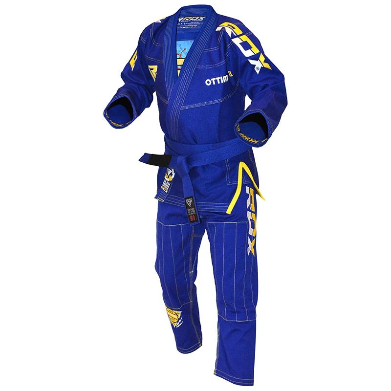 RDX S3 BJJ Gi Kimono Bresilien A4 Bleu Coton
