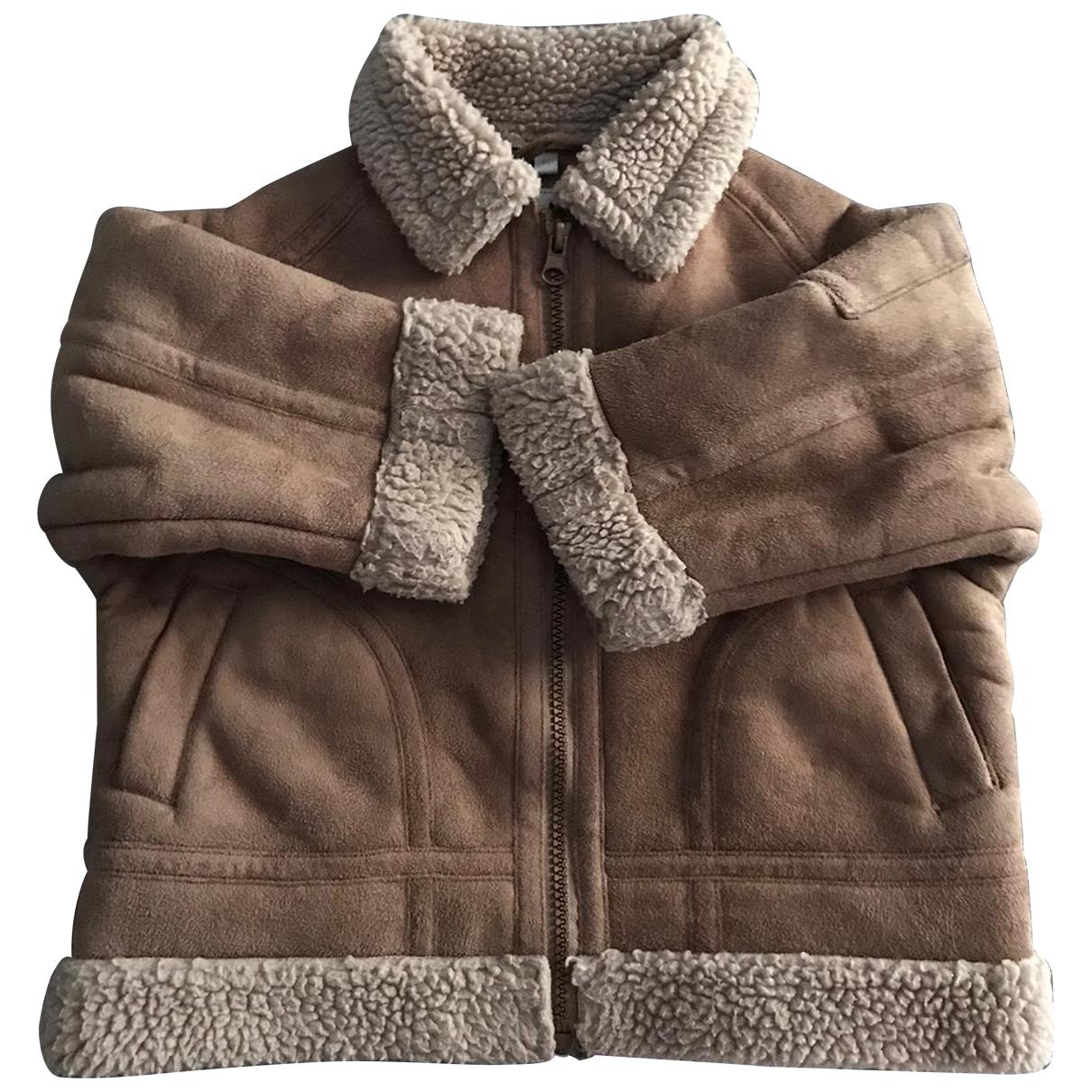 Non Signé / Unsigned \N Beige Velvet jacket & coat for Kids 2 years - up to 86cm FR