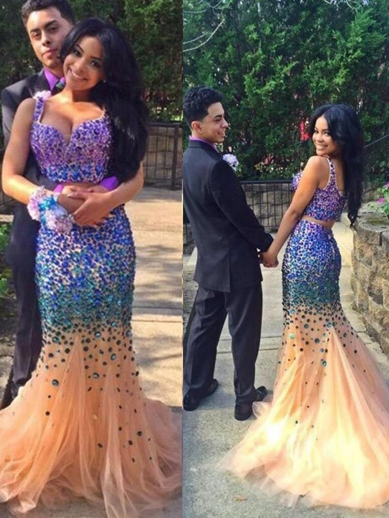 Ericdress Sweetheart Mermaid Beading Court Train Evening Dress