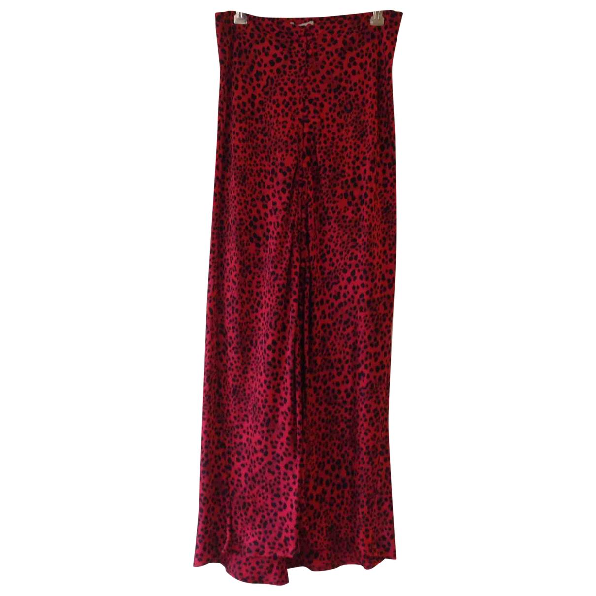 Silk Laundry - Jupe   pour femme en soie - rouge