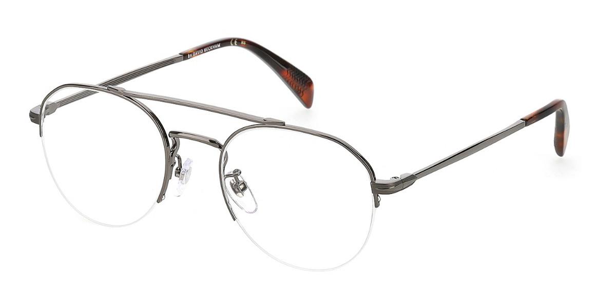 David Beckham DB 7014 KJ1 Men's Glasses Grey Size 51 - Free Lenses - HSA/FSA Insurance - Blue Light Block Available