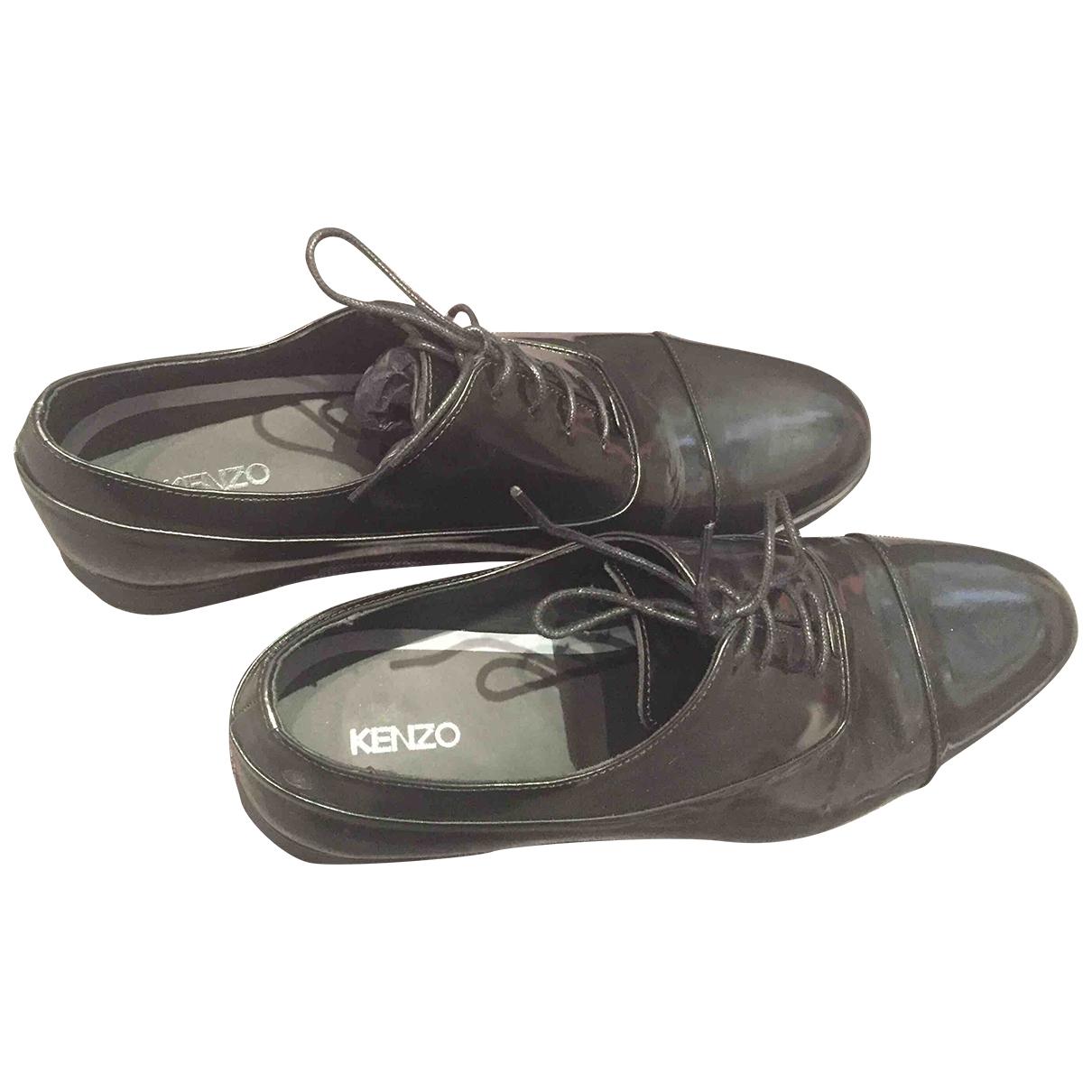 Kenzo - Derbies   pour homme en cuir - noir