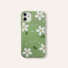 Flower & Letter Graphic iPhone Case