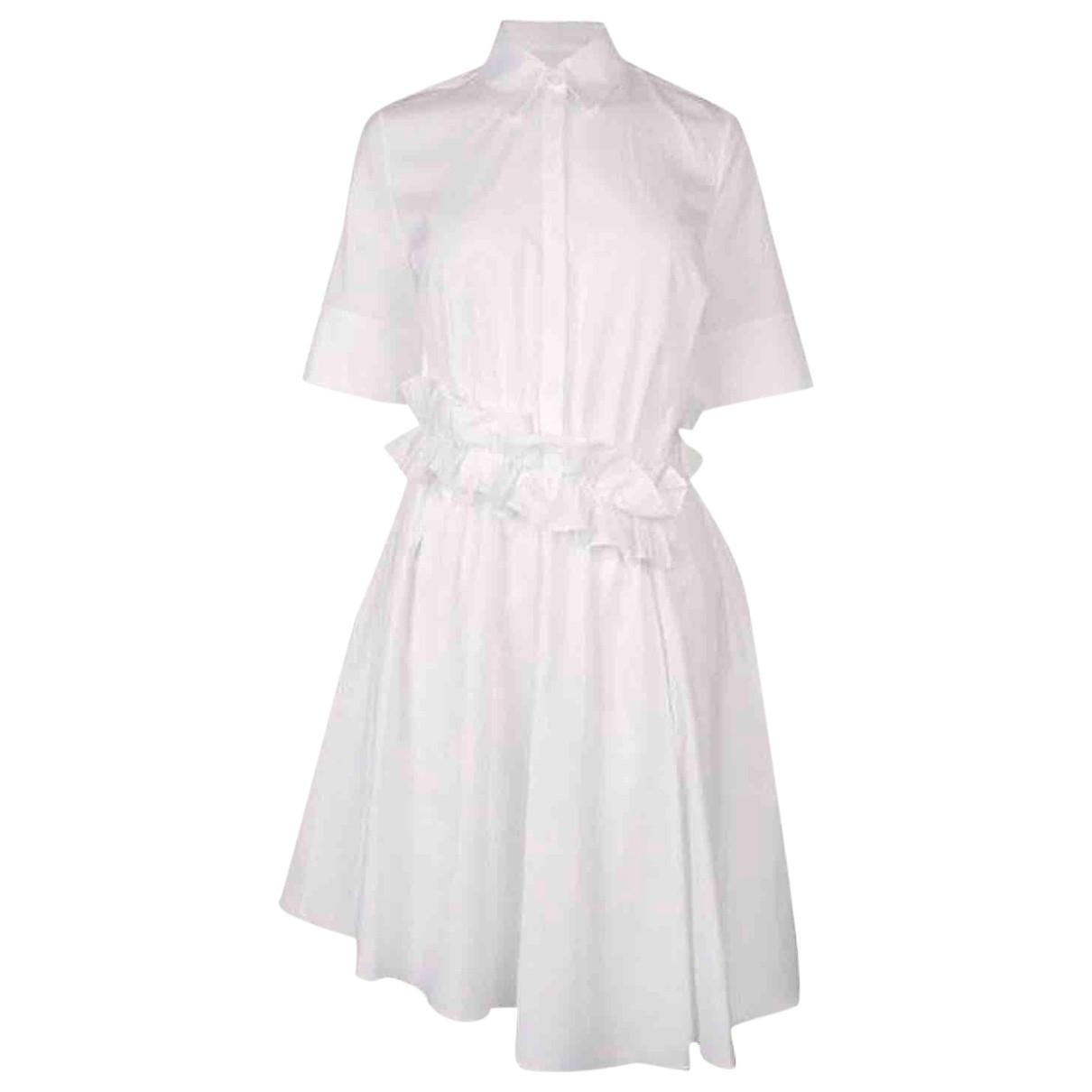 Victoria Beckham \N Kleid in  Weiss Baumwolle