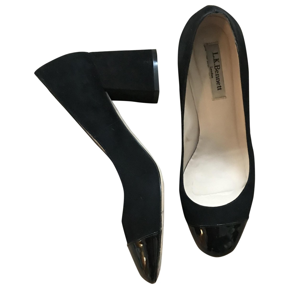 Lk Bennett \N Black Suede Heels for Women 39 EU