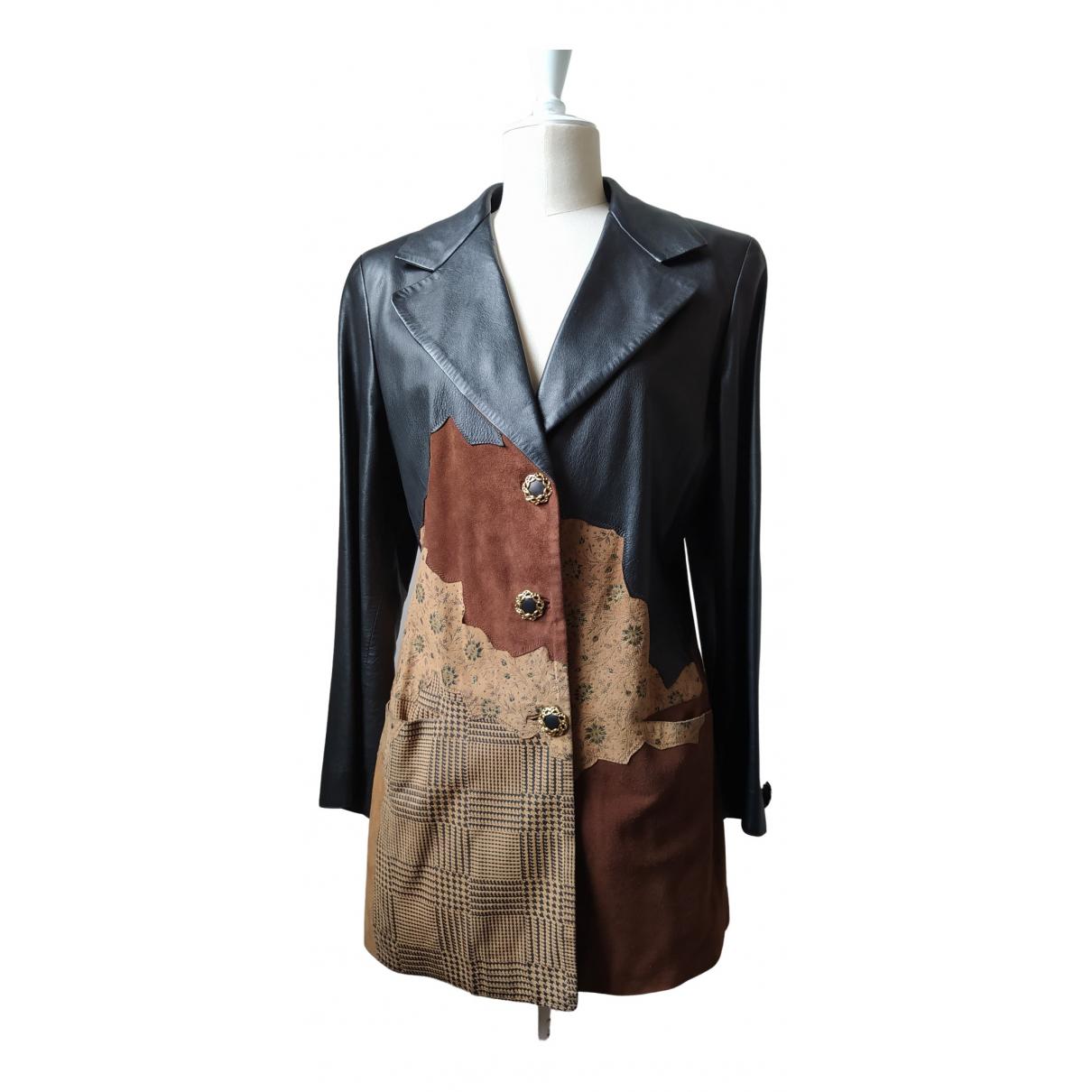 Roberto Cavalli - Blouson   pour femme en cuir