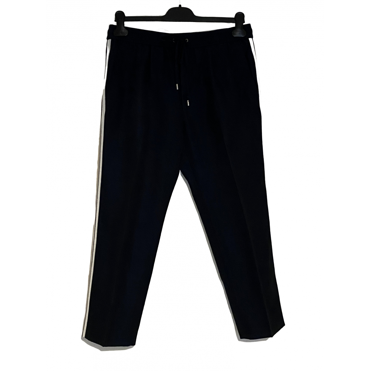 Gucci \N Navy Cotton Trousers for Men 46 IT