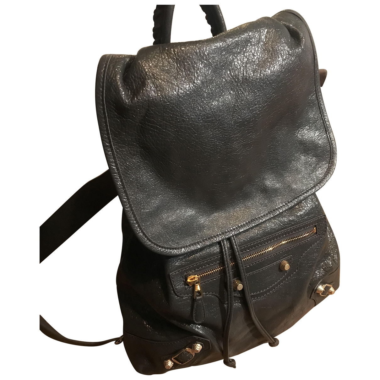 Balenciaga \N Grey Leather backpack for Women \N