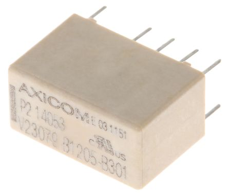 TE Connectivity DPDT PCB Mount Latching Relay - 2 A, 24V dc
