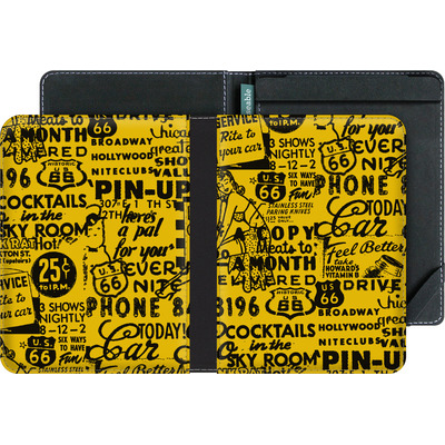 tolino vision 3 HD eBook Reader Huelle - ROUTE 66 Pin-Up Pattern Yellow von ROUTE 66