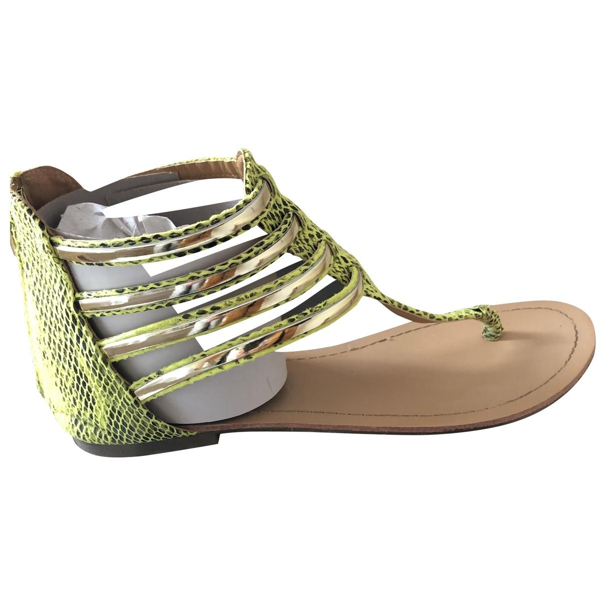 Kurt Geiger \N Green Patent leather Sandals for Women 6 UK