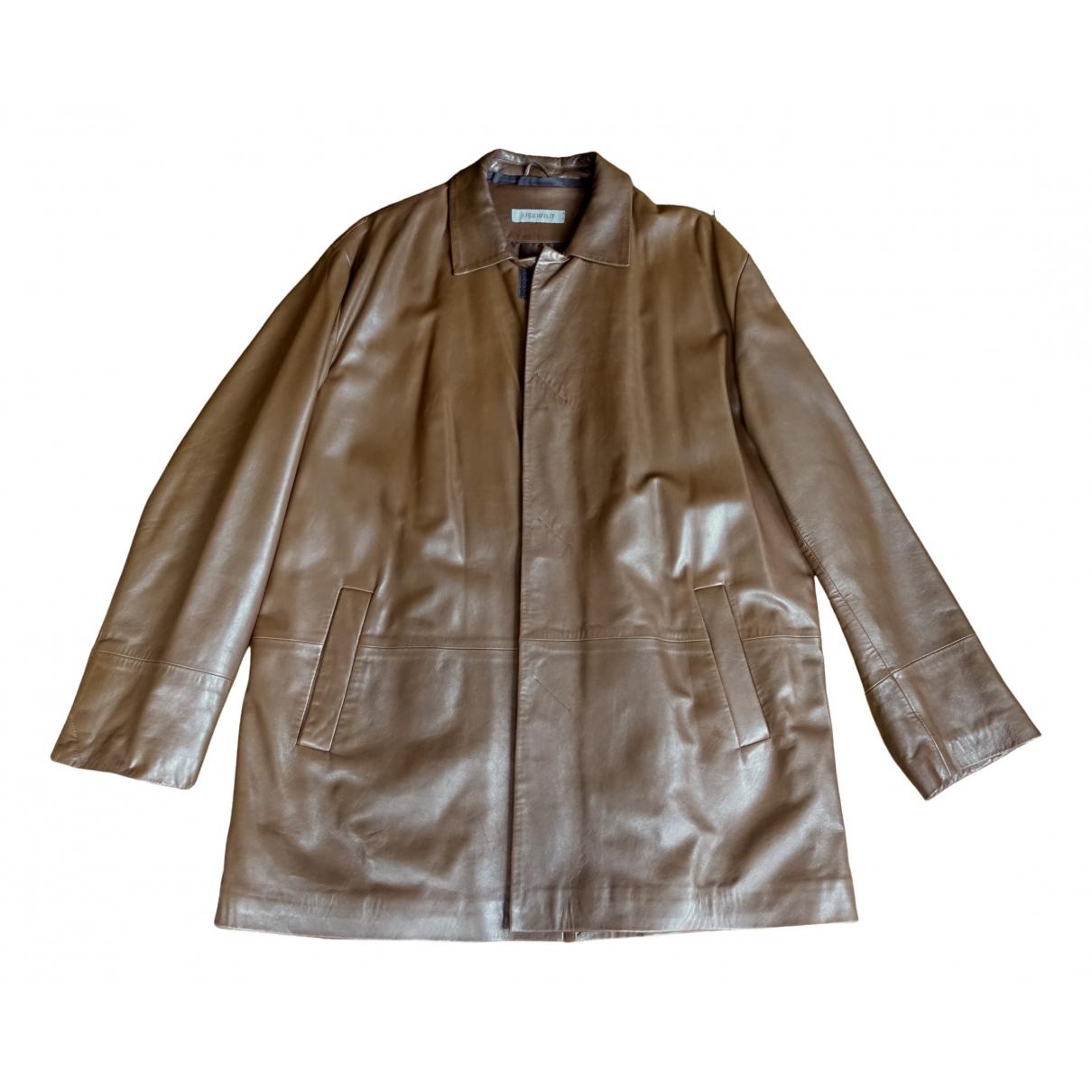 Karl Lagerfeld N Brown Leather coat  for Men 52 FR