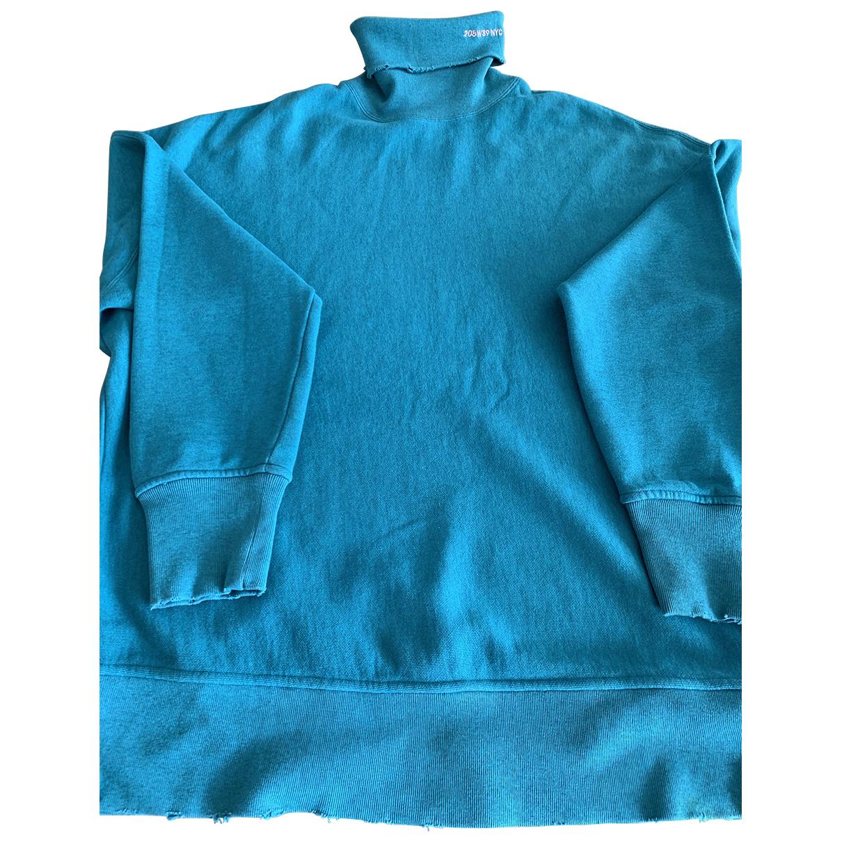 Calvin Klein 205w39nyc \N Pullover.Westen.Sweatshirts  in  Blau Baumwolle