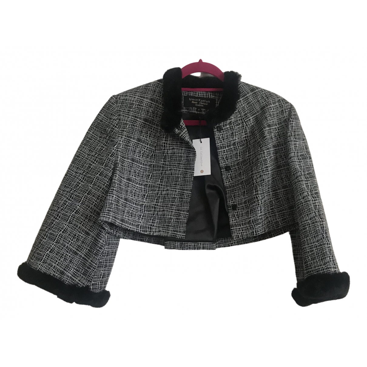 Non Signé / Unsigned \N Black Wool jacket for Women 8 UK