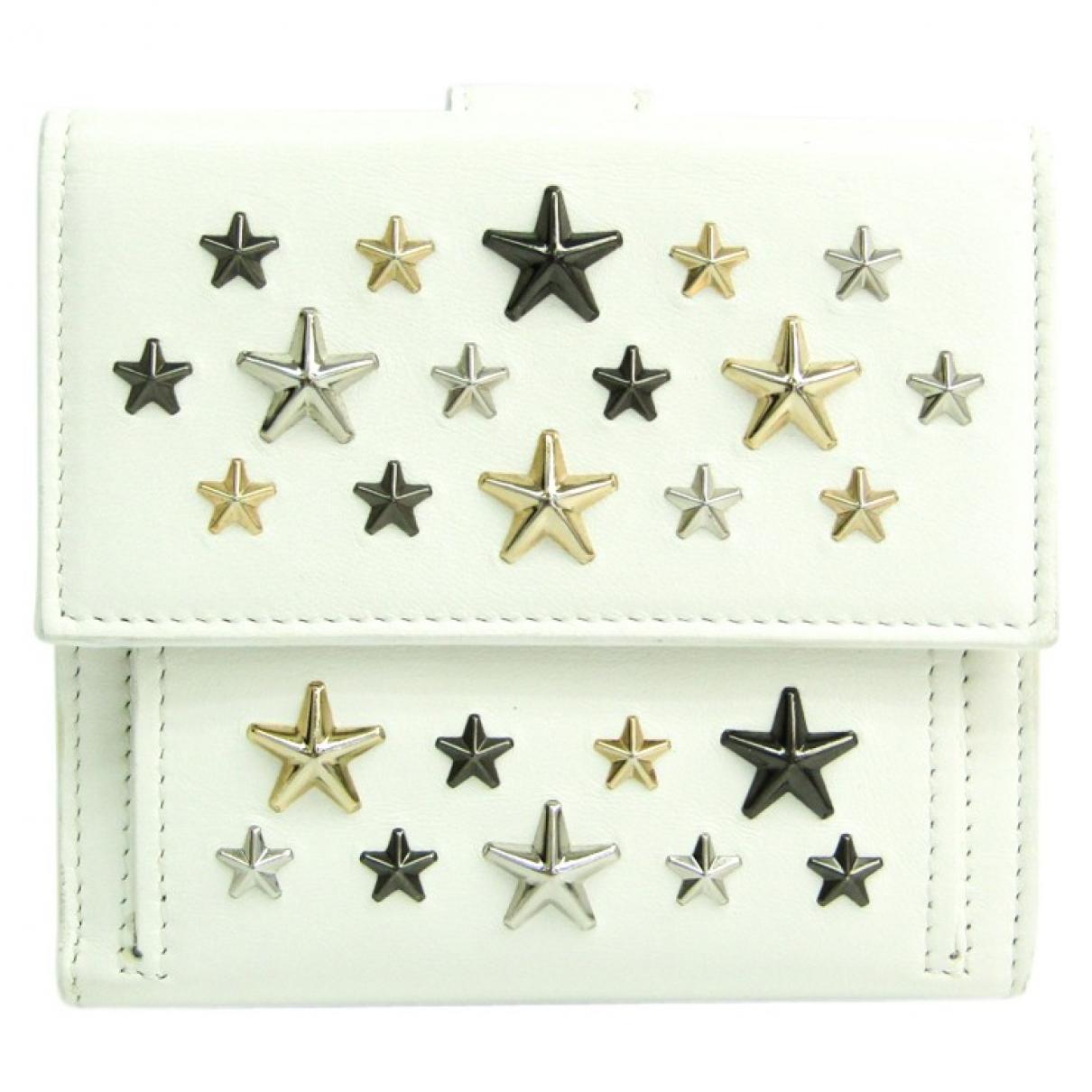 Jimmy Choo \N White Leather wallet for Women \N