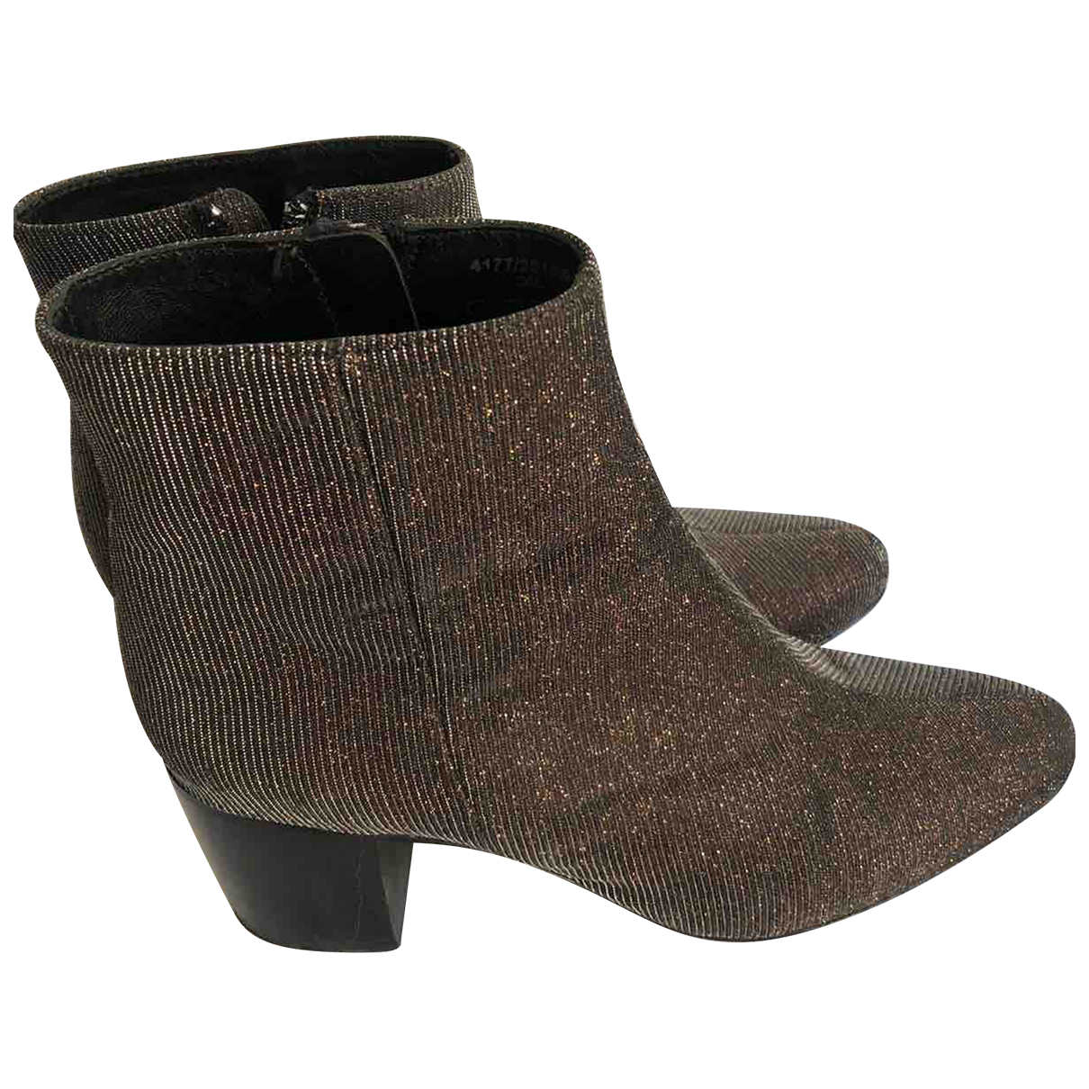 Uterque N Brown Cloth Ankle boots for Women 37 EU