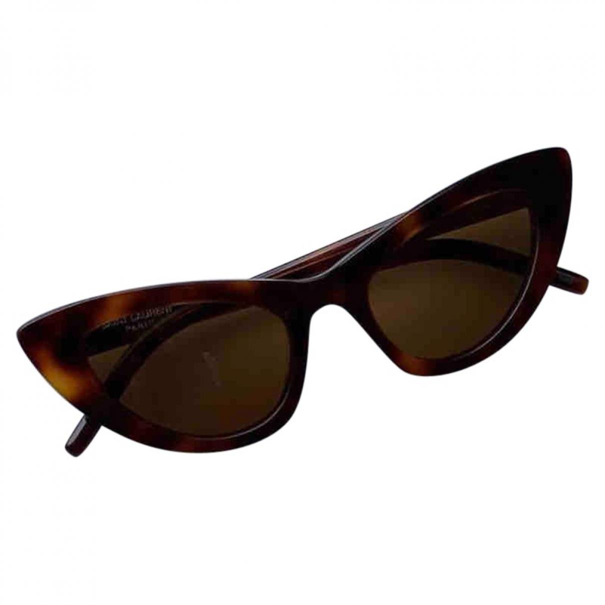 Saint Laurent Lily Sonnenbrillen in  Braun Kunststoff